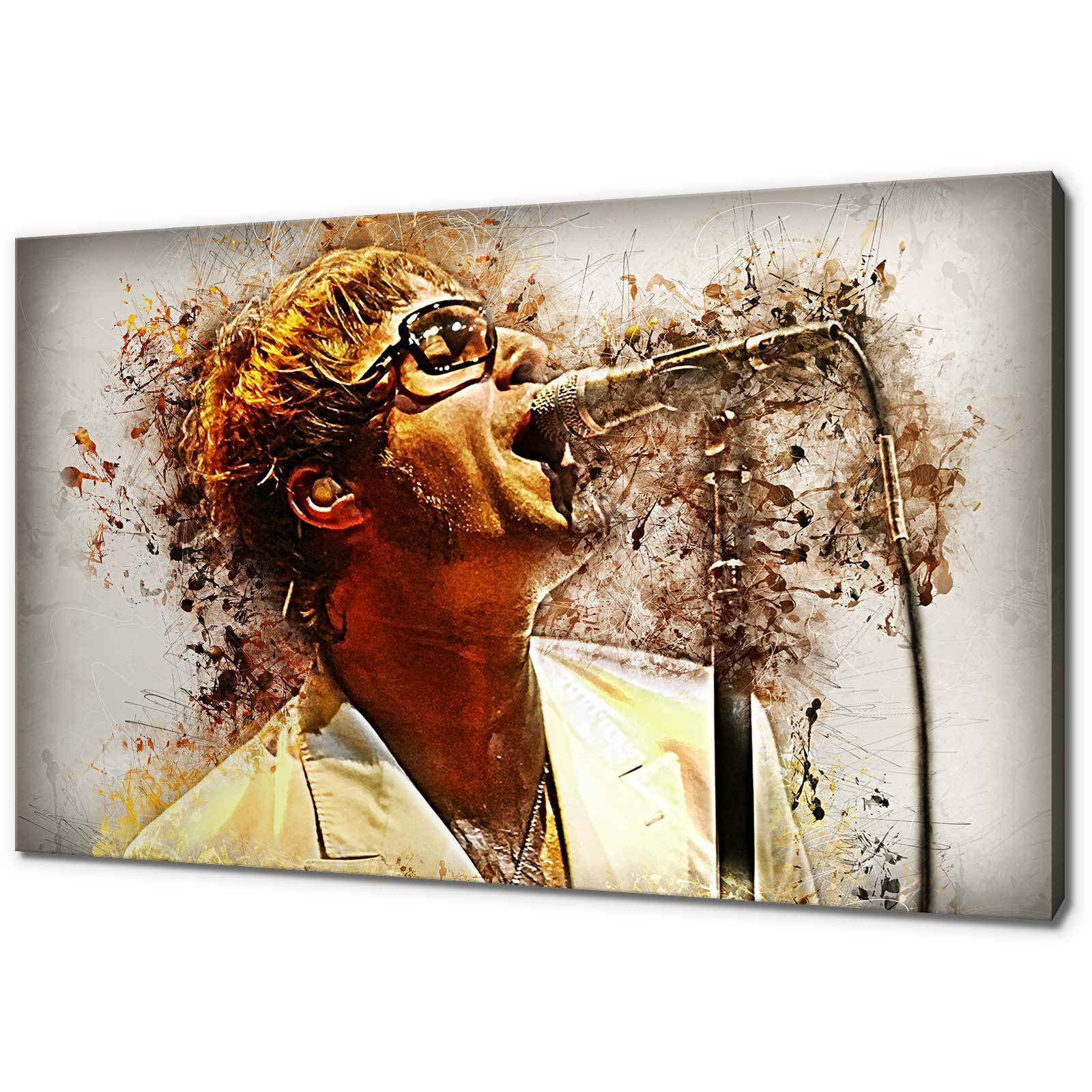 OASIS LIAM GALLAGHER CANVAS PICTURE PRINT GRUNGE WALL ART FREE FAST DELIVERY