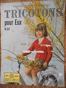 Revue-Tricotons-pour-eux-n-83-1970-Collection-Les-merveilles-du-tricot