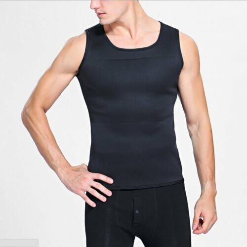Sweat Sauna Body Shaper Men Vest Thermo Neoprene Trainer Sliming Waist Belt LS