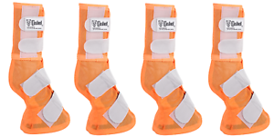 Cashel Crusader set of 4 Horse size Fly LEG GUARDS Cool Mesh Boots Fly Control