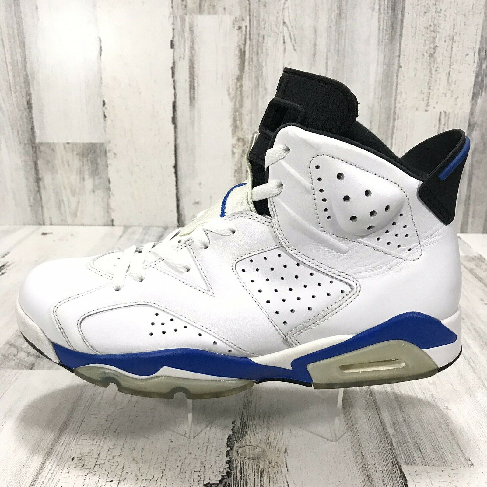 Nike Air Jordan 6 Retro Sport bluee 384664-107 Size 9.5