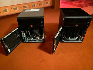 2x-HP-Micro-Server-G7-Gen7-1-GB-RAM-1x-80-GB-HD-2x-Schluessel