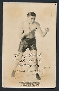 1930-039-s-VINCE-DUNDEE-Famous-Boxer-VINTAGE-Signed-Studio-Photo-Died-1949