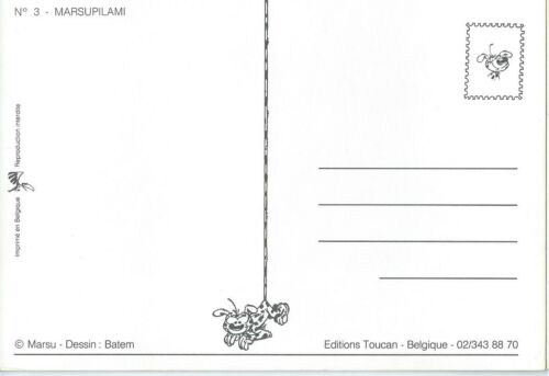 """CPM /"""" ILLUSTRE par FRANQUIN /"""" ED TOUCAN Réf 3 Carte Postale MARSUPILAMI"""