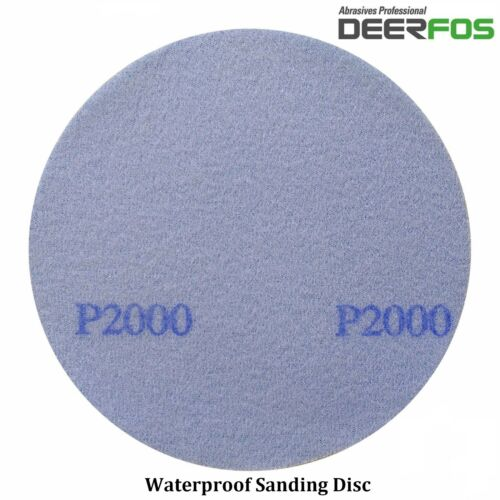 "50mm 2/"" Wet or Dry Hook /& Loop Sanding Discs P40-P3000 Sandpaper DA Pads VAT"