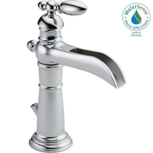 Delta Victorian Single Hole Single-Handle Open Channel Spout Bathroom Faucet
