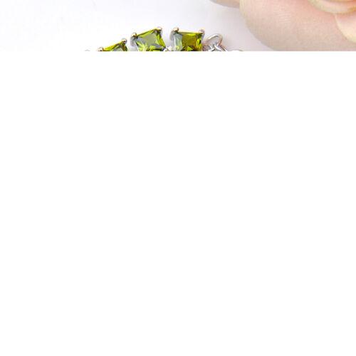 Femme Bijoux Natural Shiny Square Olive Péridot Gemmes Siler Charme Bracelets