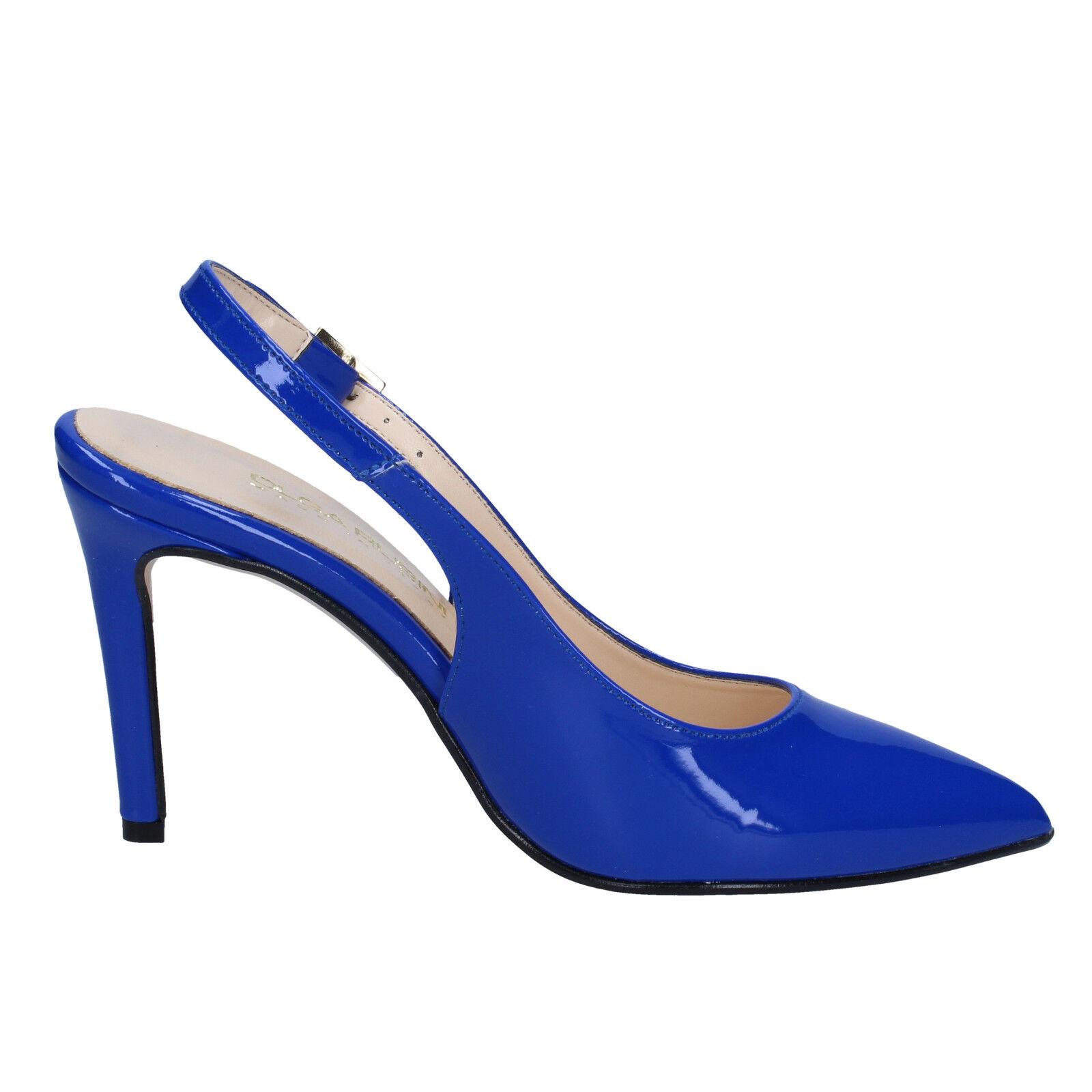 Scarpe Scarpe Scarpe donna OLGA RUBINI 41 EU decolte blu vernice BY285-41 659a33