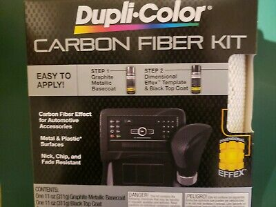 black Dupli-Color CFK100 Carbon Fiber Paint Coating Spray Kit graphite metalic