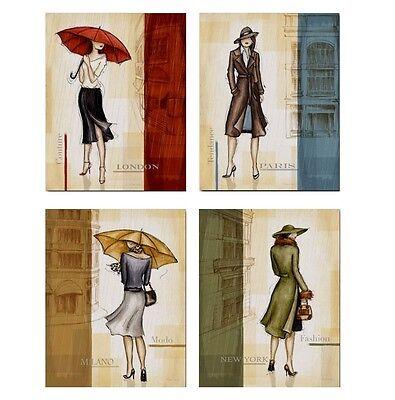 5101# 4 Plakate - Mode - Auswahl - Puppenhaus - Puppenstube - M 1zu12