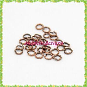 5mm 150pcs Antique Brass Bronze Jump Rings Jewelry Findings Open Split Earrings