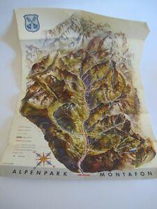 Marque Populaire Carte Historique Alpenpark Montafon Panorama Relief Carte K3959-afficher Le Titre D'origine