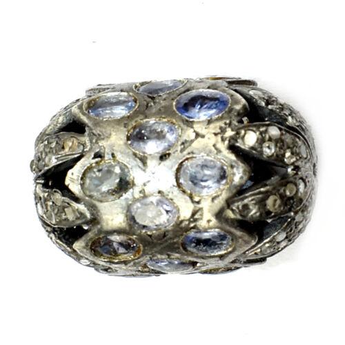 Pave Diamond Beads Pave Diamond and Kynite Beads Kynite Spacer beads Pave findings 925 Sterling Silver Beads Pave Beads