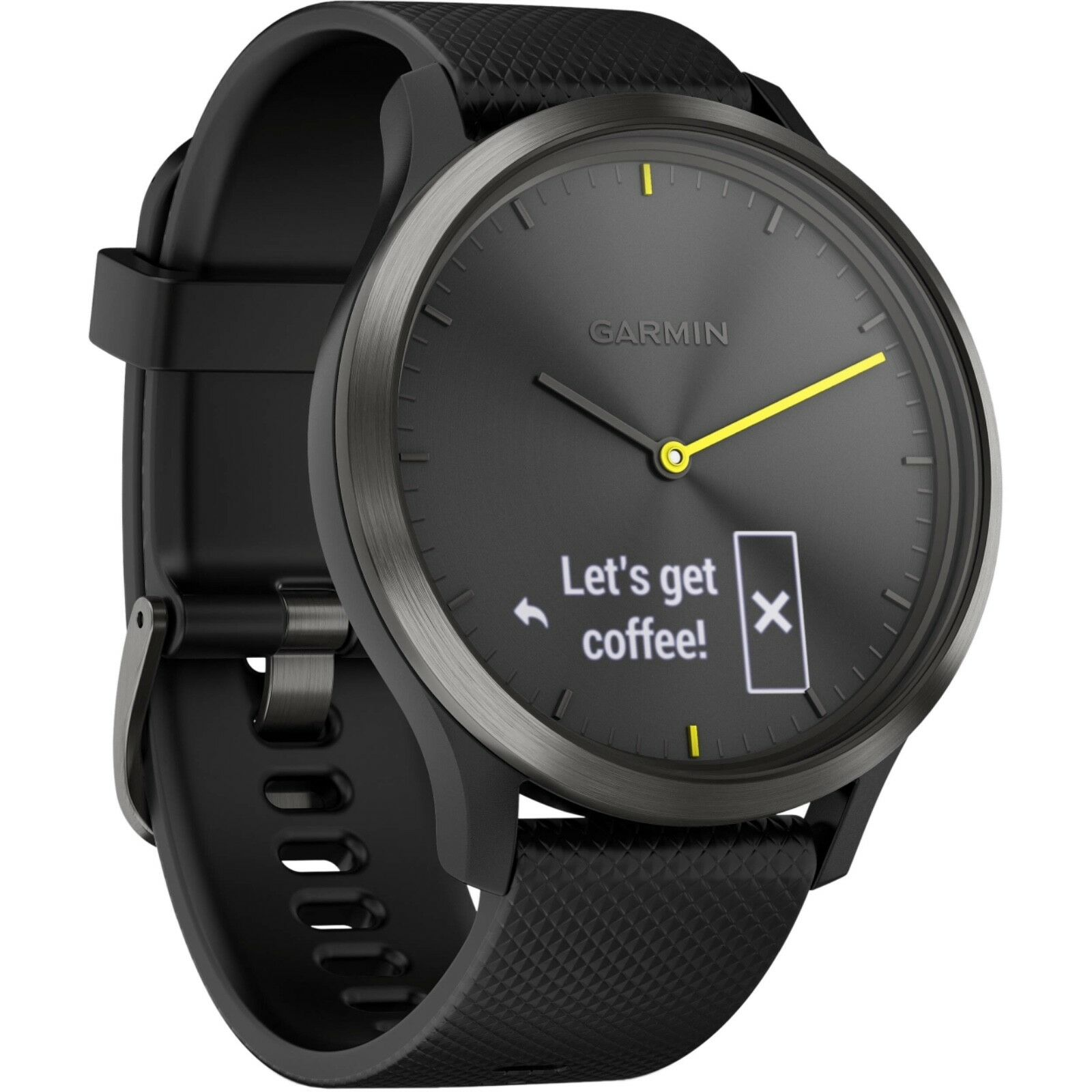 Garmin vivomove HR híbrido Reloj inteligente negro grande (ver detalles)
