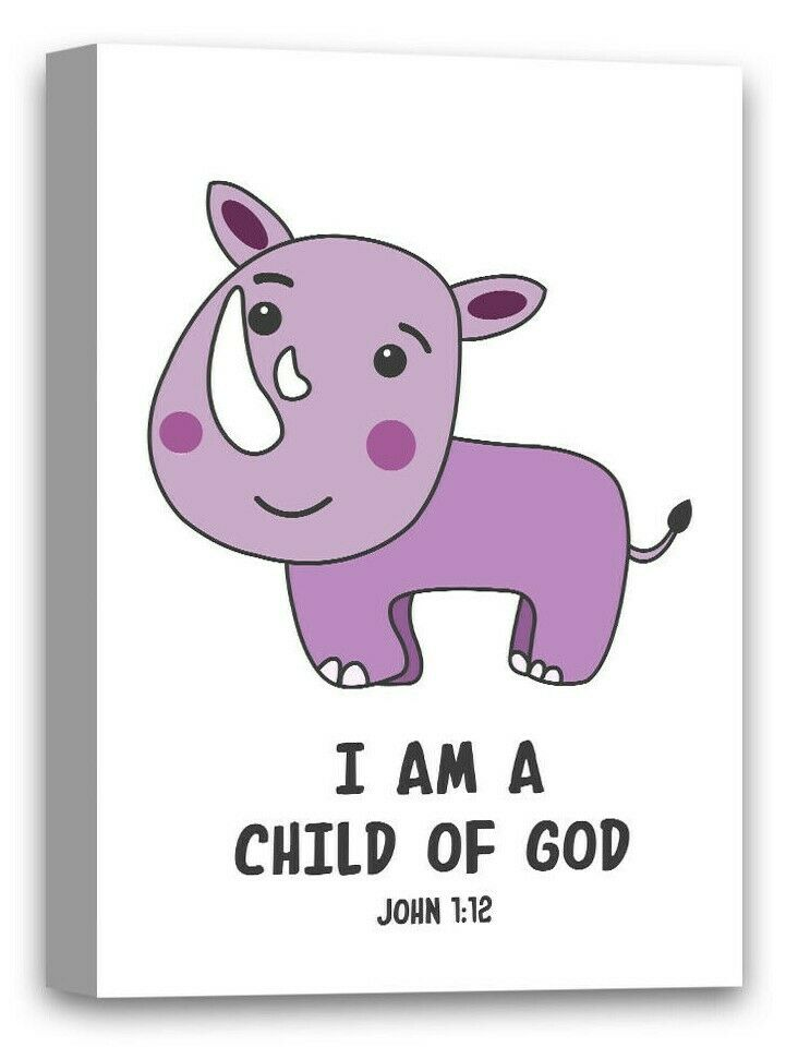 designovation i am a child of god watercolor inspirational quote