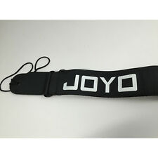 Joyo Acoustic Electric Adjustable Black Bass Guitar Strap w/ White Logo