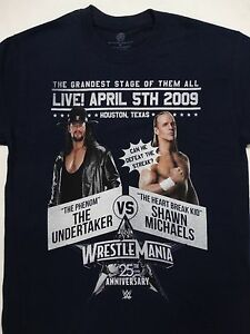 9329376ab Image is loading Shawn-Michaels-HBK-Vs-The-Undertaker-Wrestlemania-XXV-
