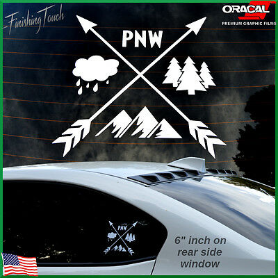 Tree sticker PNW decal car truck windshield vinyl bumper sticker custom graphic
