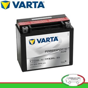 Batteria Avviamento Moto Varta AGM YTX20L-4 / YTX20L-BS 12V 18Ah 518901026