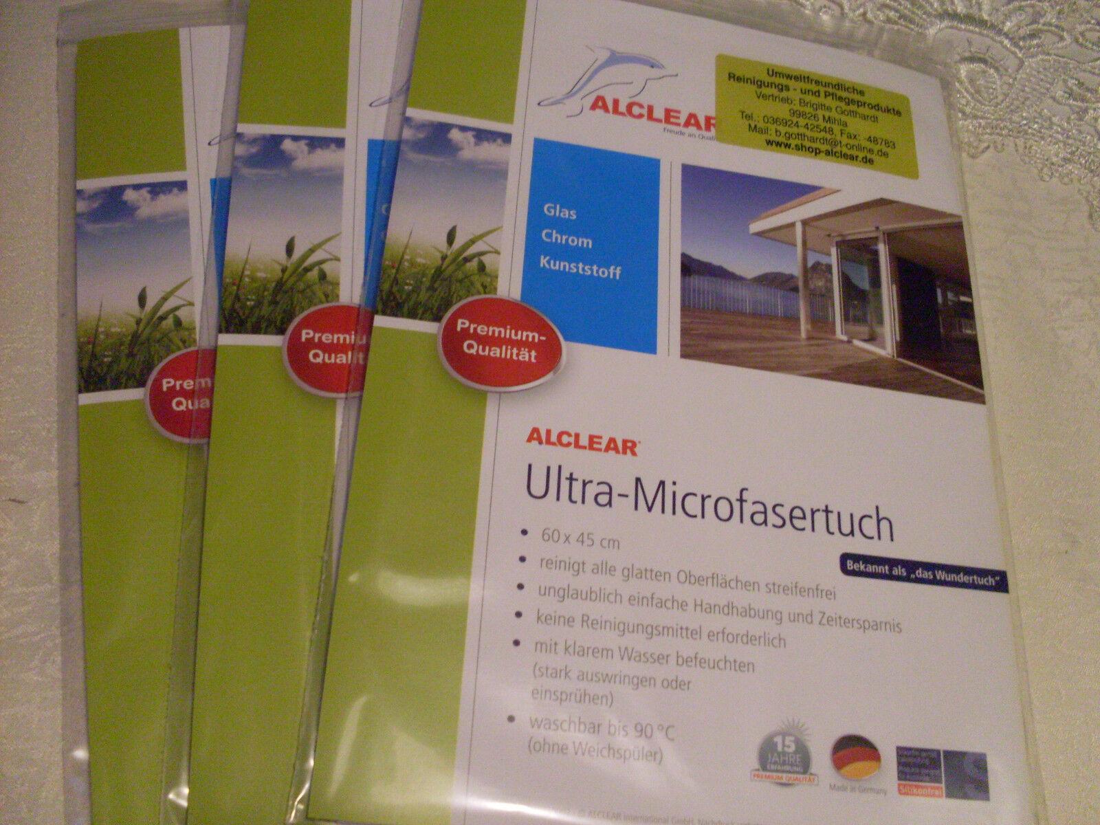 Alclear - Ultra - Microfaser Fenstertuch  60x45cm  3erSet   Verrückter Preis, Birmingham    Stilvoll und lustig