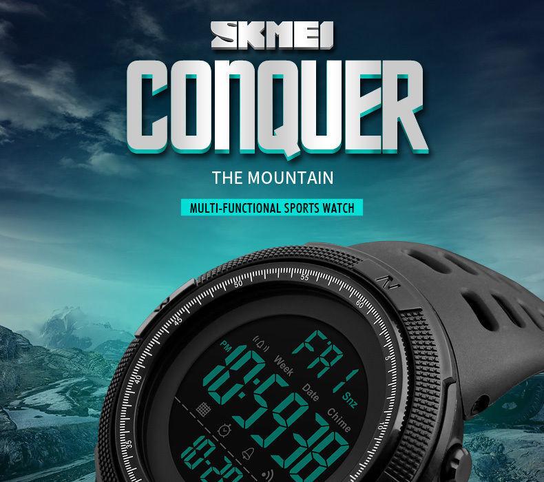 SKMEI Waterproof blueetooth multi functional Sports Digital Wrist Men Smart Watch