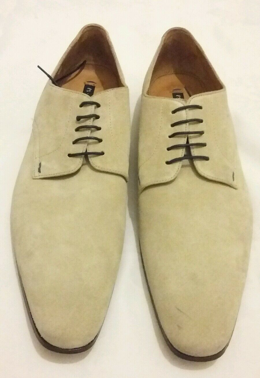 PAUL SMITH PS up Taylors Suede Derby Lace up PS Shoes Beige UK 9.5 EU 43.5 Made in ita 947c30