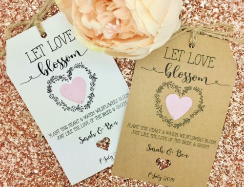 Flower Seeds Plantable Seeds Paper Confetti Wedding Favour Gift Let Love Grow