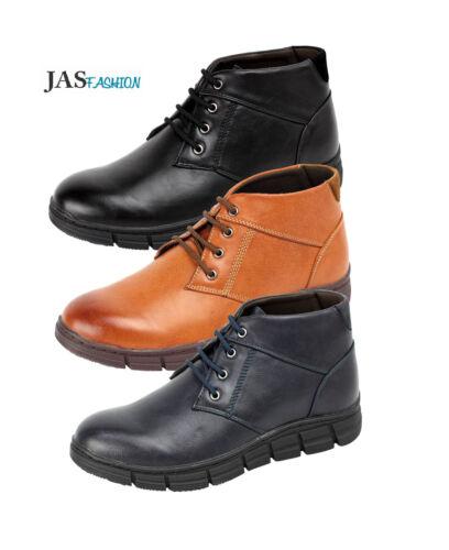 Mens Lace Up Ankle Casual Boots Fashion Biker Designer Shoes Smart UK Size 6-12