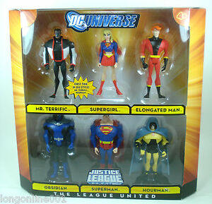 2009 Justice League Unlimited THE LEAGUE UNITED 6 PACK OBSIDIAN Complete Mint