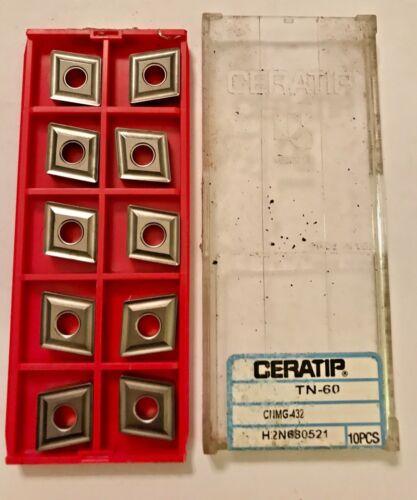 Qty.10 NEW IN BOX CERATIP Carbide Inserts TC-60 CNMG 432 H2N680521