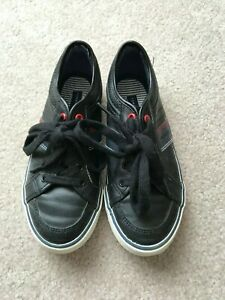 ab7010098 Tommy Hilfiger Youth Boys Dennis Retro Lace Up Black Shoes Size 2 ...