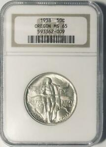 1938-Oregon-Trail-Commemorative-Silver-Half-Dollar-NGC-Mint-State-65