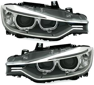 Angel-Eyes-Scheinwerfer-Set-fuer-3er-BMW-F30-F31-Limo-Touring-Xenon-D1S-LED