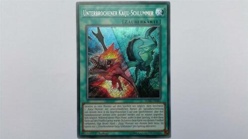 1 Unterbrochener Kaiju-Schlummer BLHR-DE087 Auflage! Secret Rare NM YUGIOH!