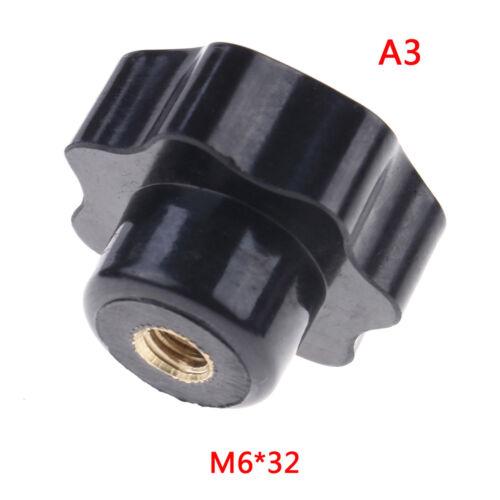 Plastic M4//M5//M6//M8 female thread seven star shaped head clamping nuts knob FG