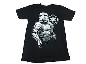 Star-Wars-Imperial-Stormtrooper-Sketch-Authentic-Licensed-Men-039-s-T-Shirt