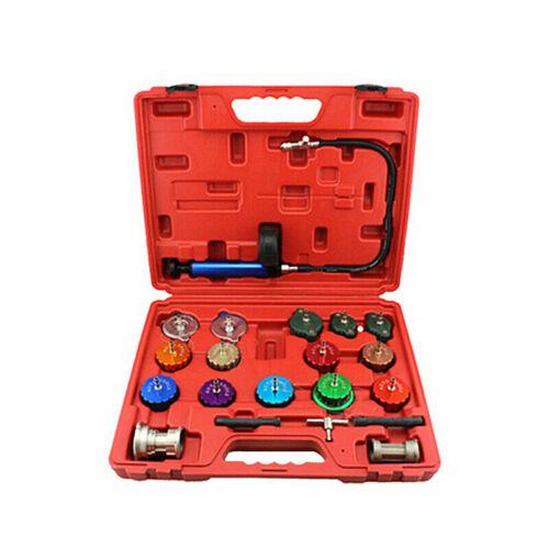 21pcs Compression Cooling System Pressure Vacuum Tester Purge Radiator Cap Kit