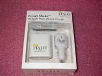 Halo Power Shake Portable Charger W/12-in-1 Retractable Usb & Ac Adapter/car