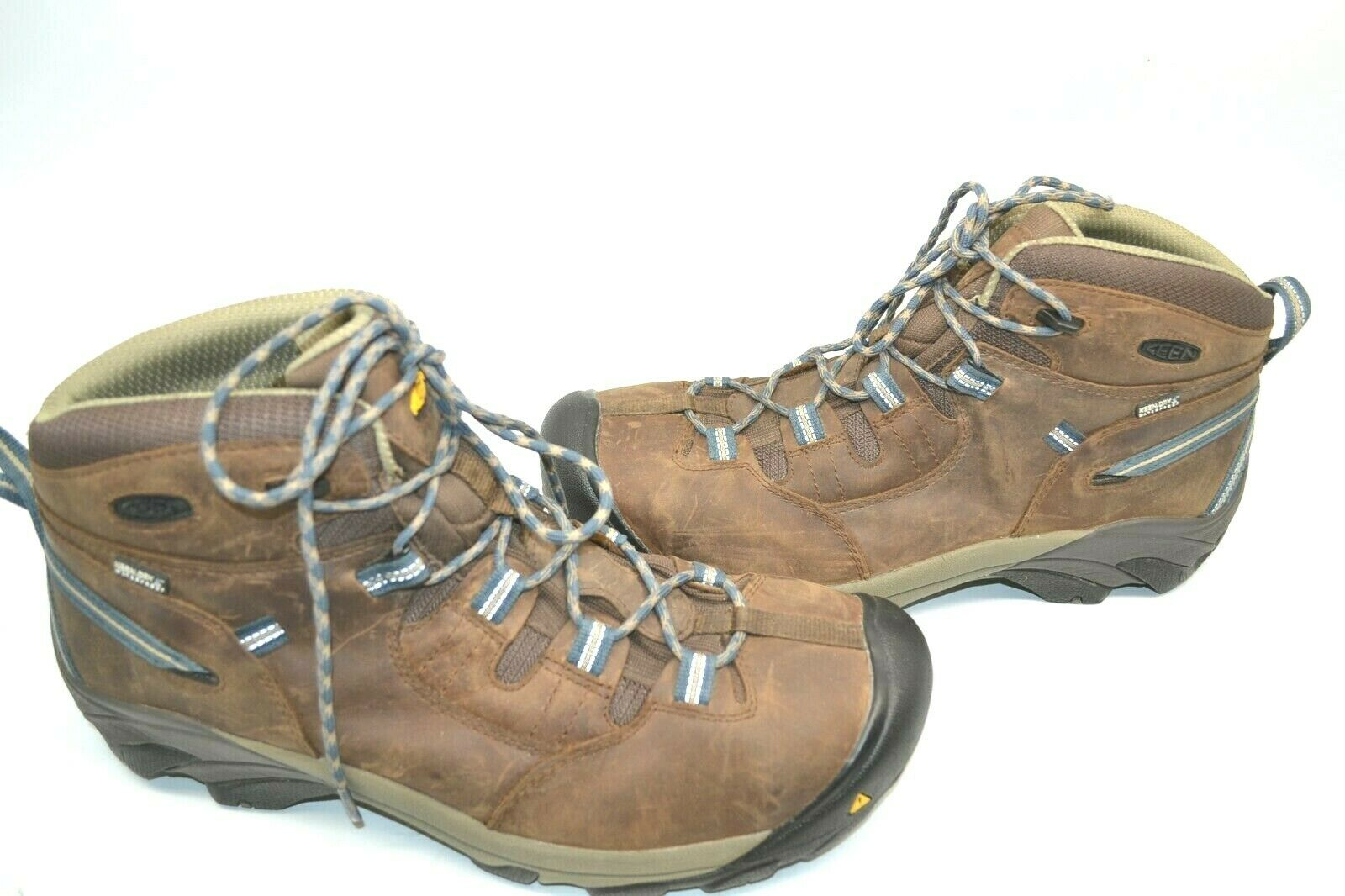KEEN 1007004 MEN'S DETROIT MID BROWN LEATHER STEEL TOE WORK HIKING BOOTS 14 D