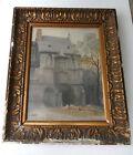 Ancienne aquarelle début XXème siècle Abbaye de Cluny signée et datée 1904 @+