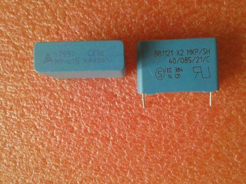 0,15uF 440V RM 27,5mm 2 x Folienkondensator NEU B81121 X2 MKP// SH
