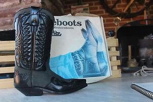 Prime Nouveau Western gris noir Gr Bottes Bottes Bottes 36 Cowboy ZUwqdxZX