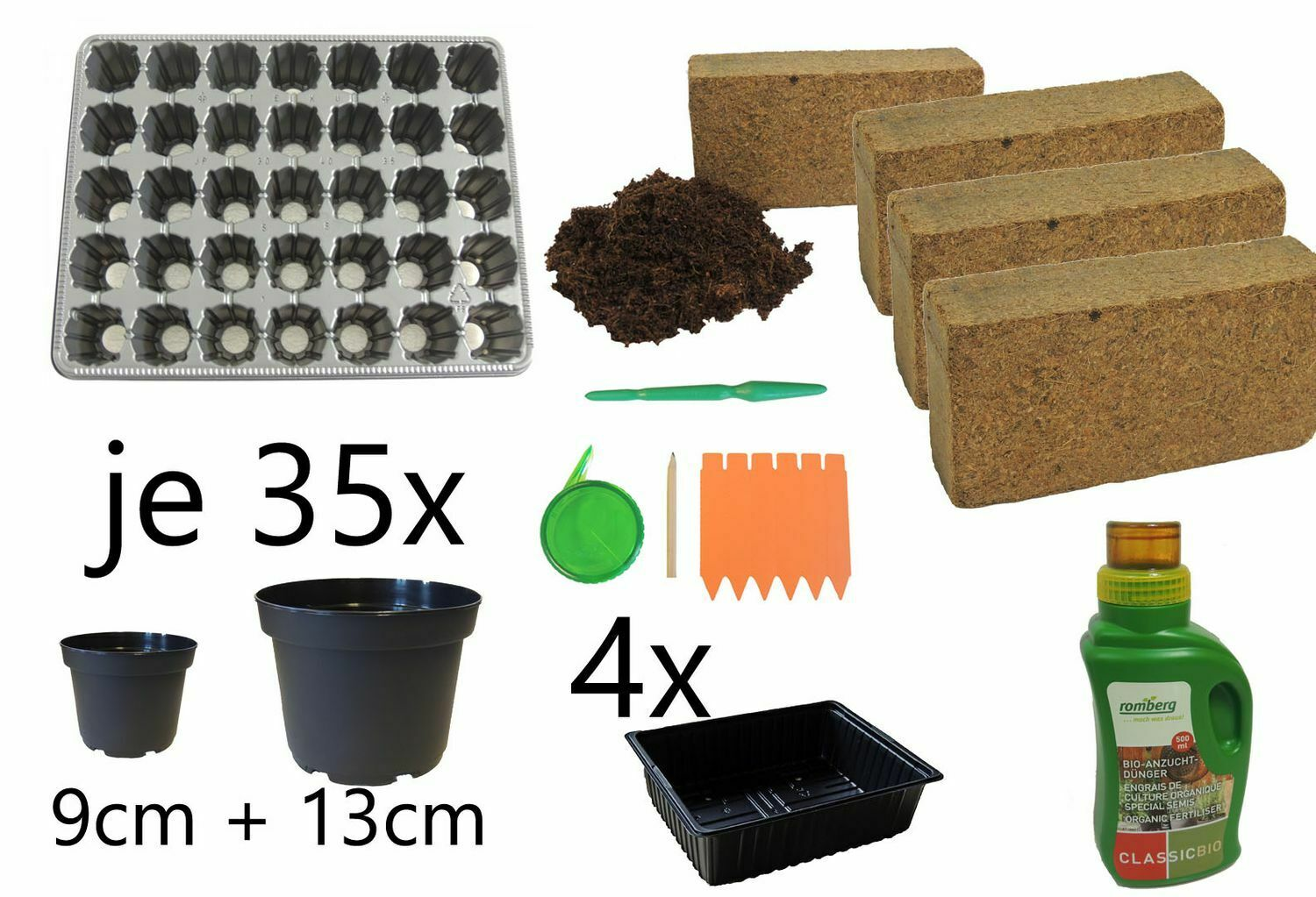 Breeding Sowing And Pikierset 89-Teilig For 35 Plants Tomatoes Chili Paprika