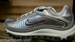 Dettagli su NIKE AIR MAX MEDALLION SILVER BLACK Max 97