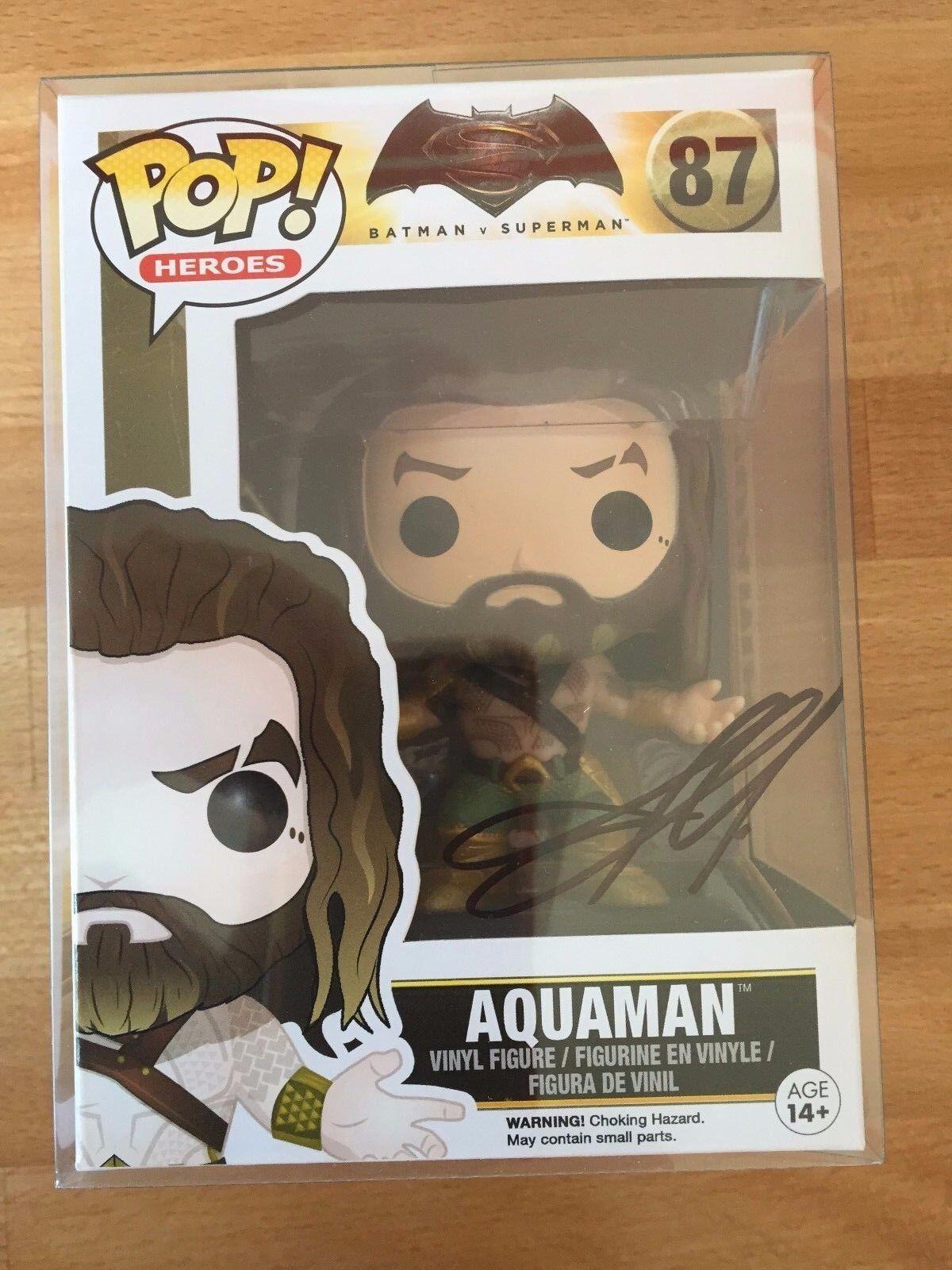 Firmado Funko Pop Aquaman firmada por Jason Momoa