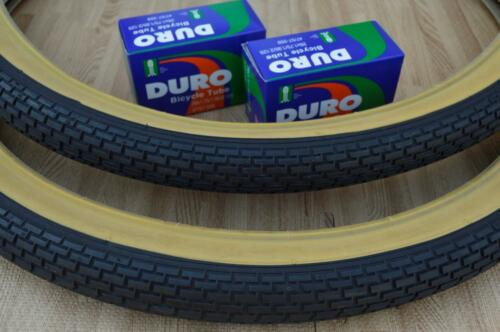 2 Beach Cruiser 26x2.125 Bicycle Tires /& Inner tubes Brick Gum Wall BMX Two