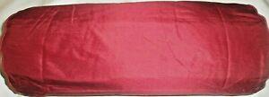 x 2 John Lewis 100/% silk bolster cover 45x 17 cms.deep red new