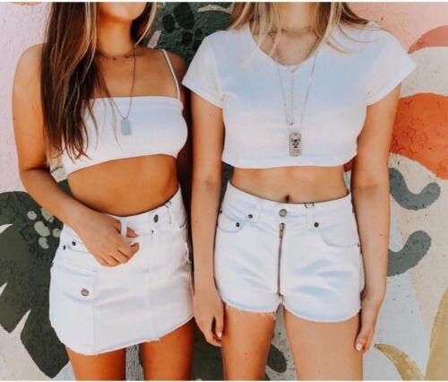 Lf Cerniera Esposti Rise Jeans Carmar Pantaloncini Bianco Intera High fwTfvOqp
