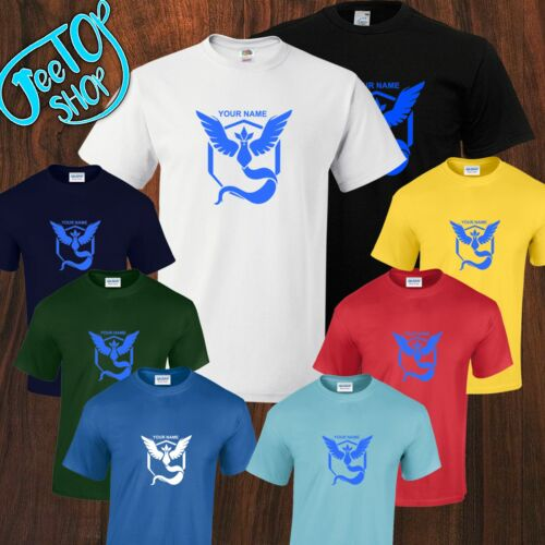 New Personalized Team Mystic Pokemon GO Fan Inspired Mens Unisex T-Shirt S-5XL