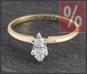 Diamant-Damen-Ring-585-Gold-Solitaer-0-50-ct-River-D-Weissgold-Gelbgold-Neu